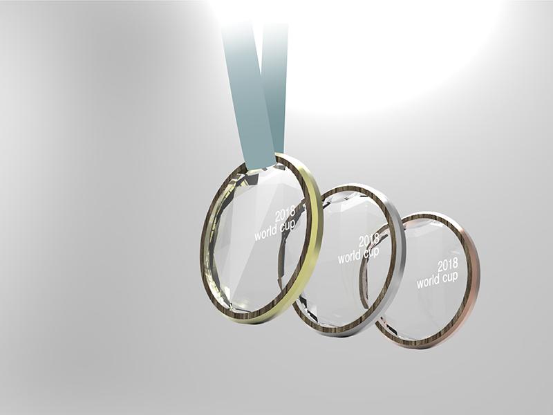 スキーW杯表彰メダル-Advance design